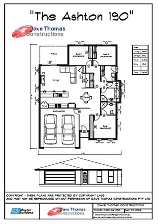 Ashton 3 bedroom house plan
