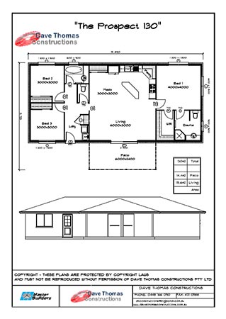 The Prospect 3 bedroom house plan