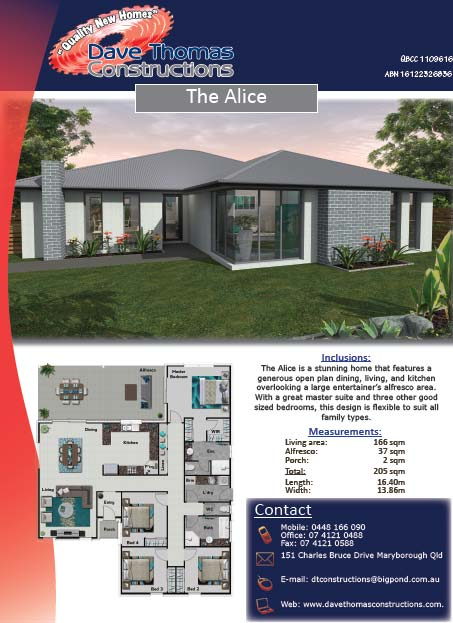 The Alice 205sqm house plan